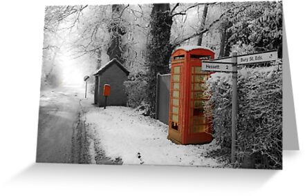 Red Telephone Box,Rougham,Suffolk,UK by Suffolk Photography
