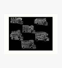 Truck Art Traffic Jam Art Print