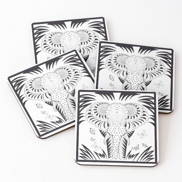 Elephant Coasters (Set of 4)