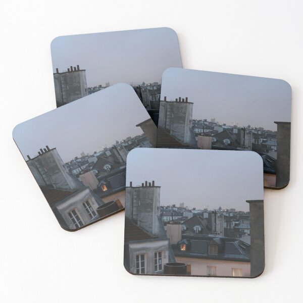 Parisian rooftops Coasters (Set of 4)