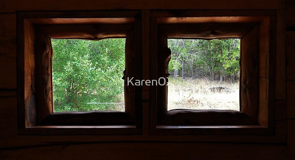 Cabin in the woods by Karen01