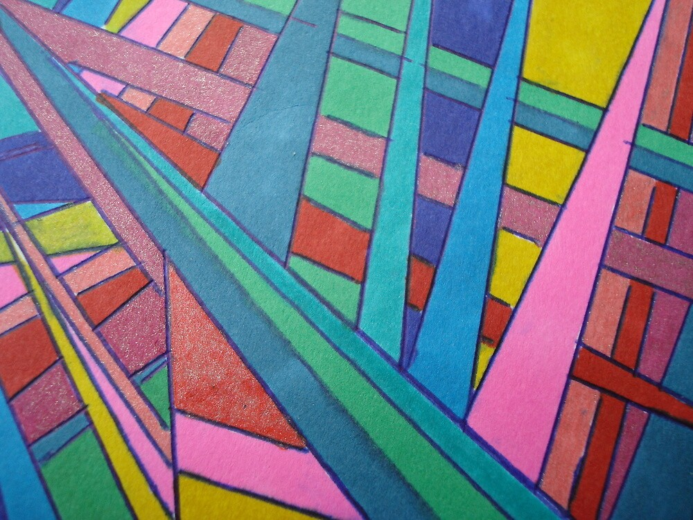 TEN COLORS IN A ROW by cindy gottfried