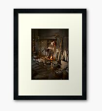 Eighteenth Century Hearth Framed Print