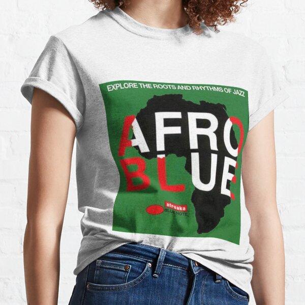 Retro Jazz Album Cover Afro Blue Classic T-Shirt