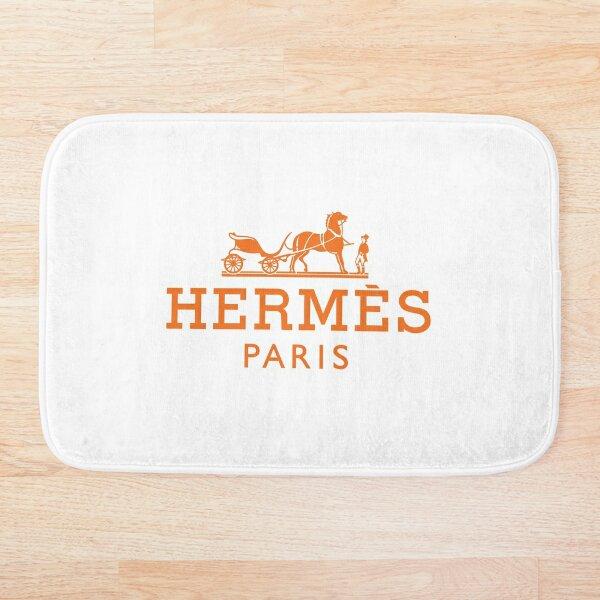 Hermes logo orange Bath Mat