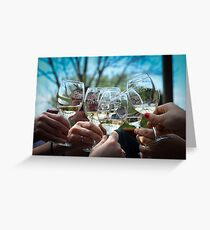 Wine Tasting with Friends Greeting Card