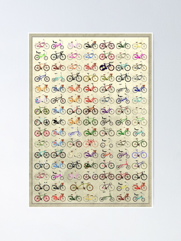 Alternate view of Bikes Poster