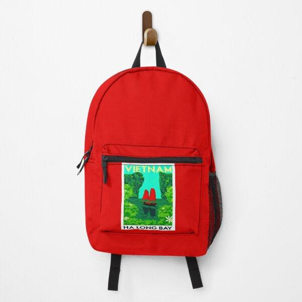 """VIETNAM"" Vintage Ha Long Bay Travel Print Backpack"