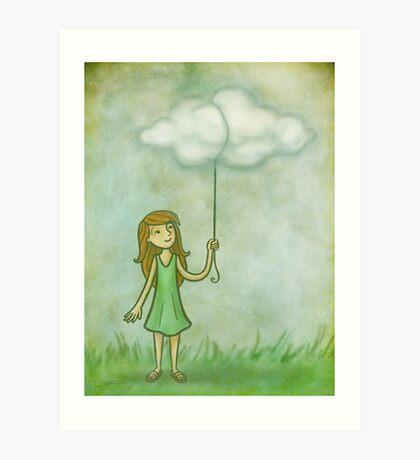 Cloud on a string Art Print