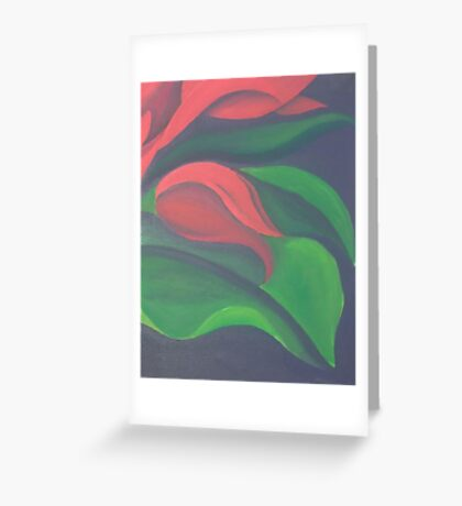 Red Tulip Diptych (Right) Greeting Card