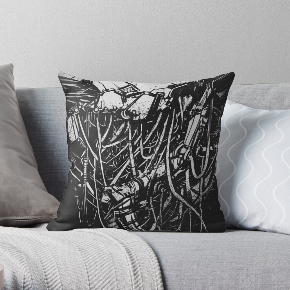CyberBody Constructor Throw Pillow