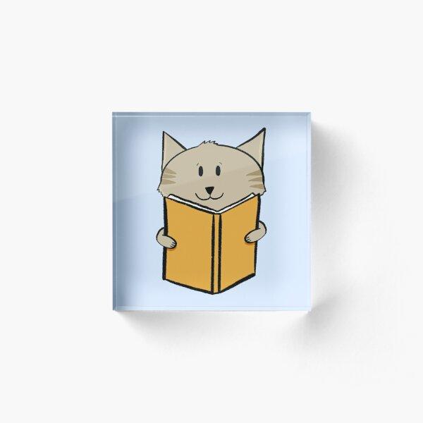 Reading cat Acrylic Block