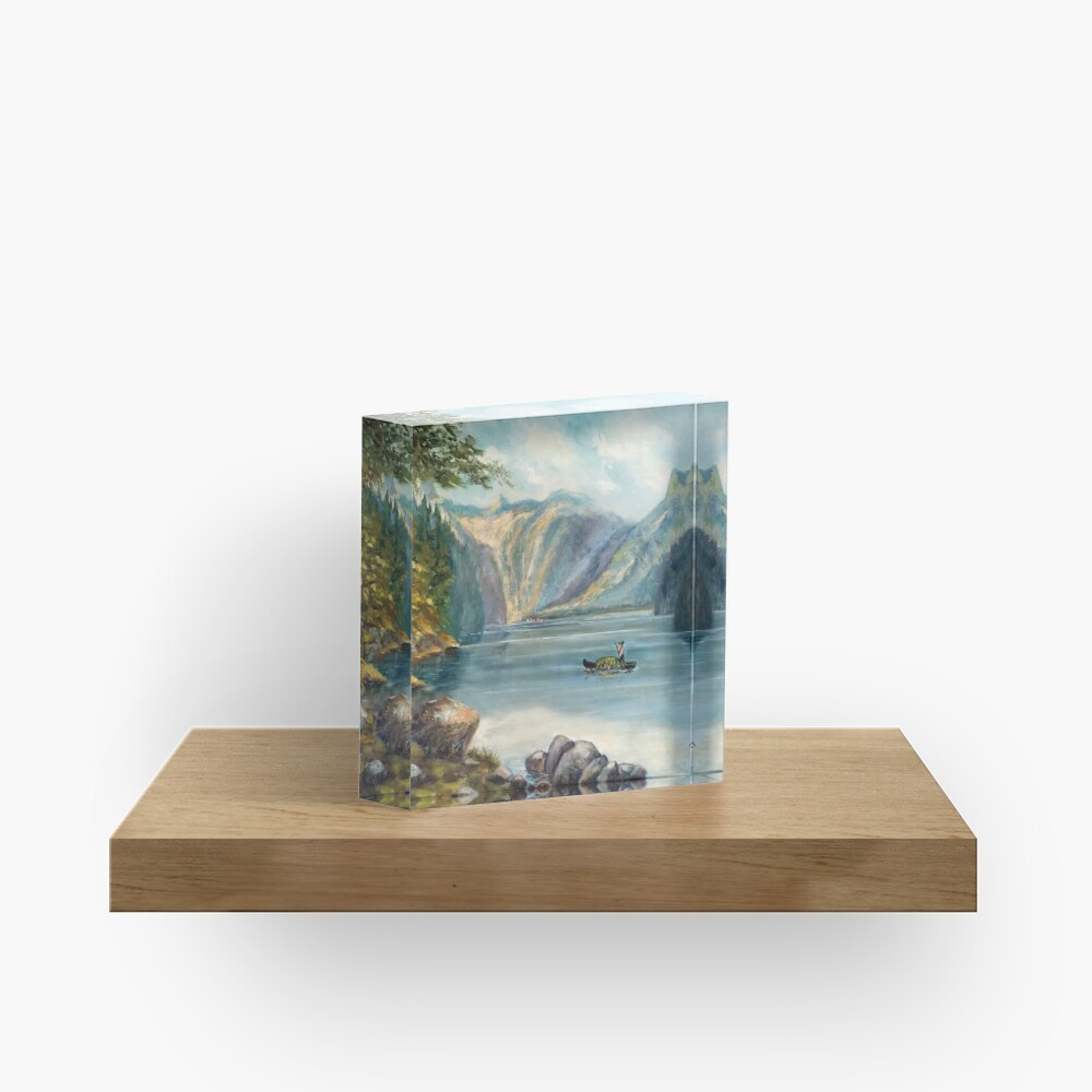 Hidden Feathers by Max Lewis Acrylic Block