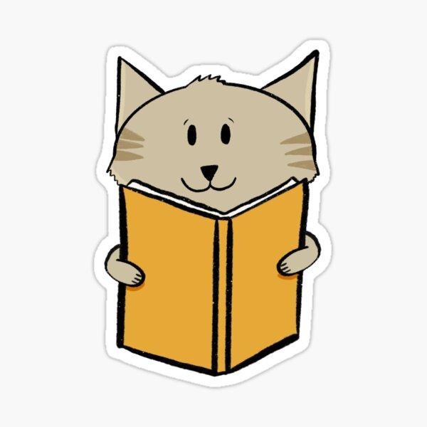 Reading cat Sticker