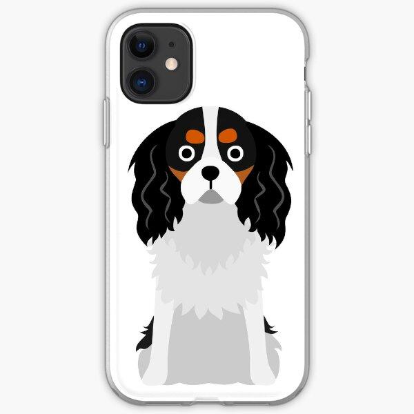 Cavalier King Charles Dog Cartoon Art iPhone Soft Case