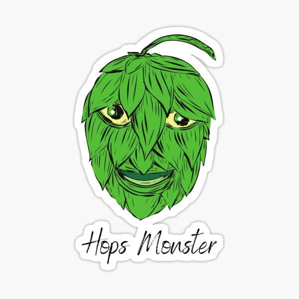 Hops Monster - Hombrewing hops t-shirt Sticker