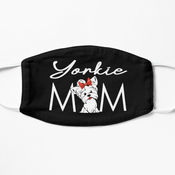 Yorkie Mom, Yorkshire Terrier, Yorkie Gifts, Mother Tees, Cute Illustration, Teacup Yorky, Red Color, Pretty Bow Tie Mask