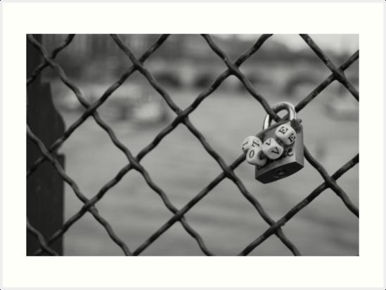 Love Lock Bridge by Daniel Pinnegar