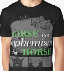 Horse Euphemism Graphic T-Shirt