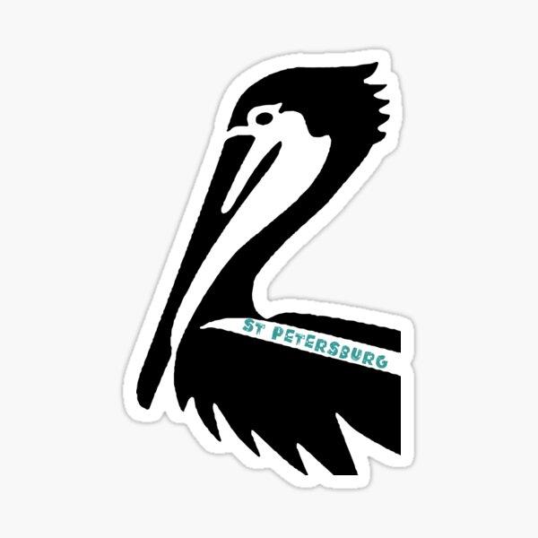 St Petersburg Florida Pelican Head Sticker