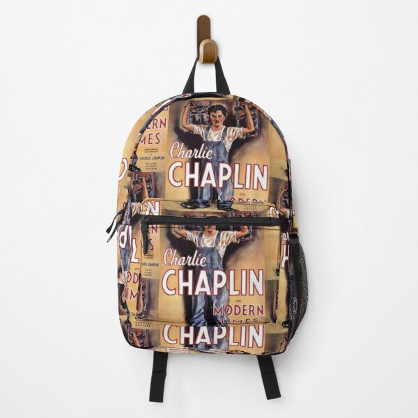 Charlie Chaplin. Modern Times, Movie Poster. Backpack