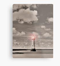 Sepia Surreal Lighthouse Metal Print