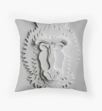 """Mandrill King"" Throw Pillow"