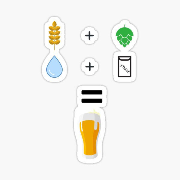 Beer brewing ingredients Sticker