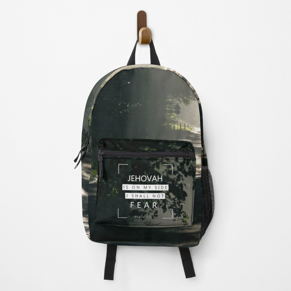 Jehovah is on my side Psalms 118:6 Backpack