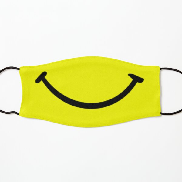 yellow smiley face mask Yellow Funny Smile Face Mask Gift for Friends Family Adults or Youth Size Kids Mask