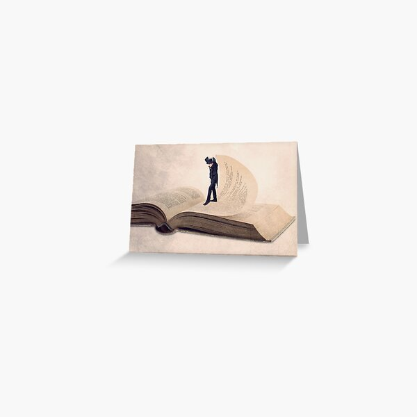 Book print, The page turner Greeting Card