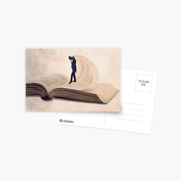 Book print, The page turner Postcard