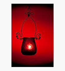 Slow red burn Photographic Print
