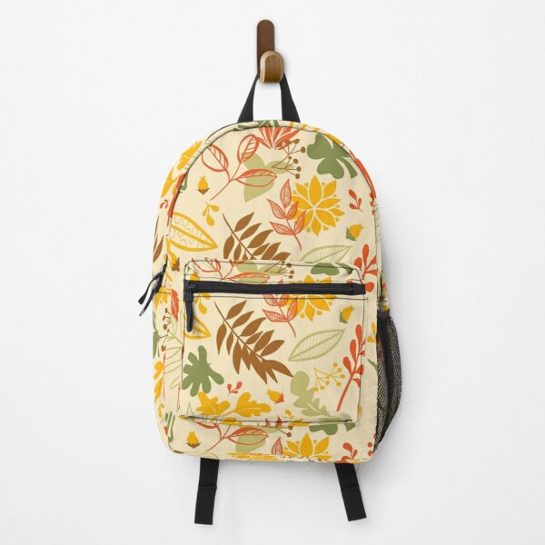 Autumn Leaves in Orange, Brown, Gold and Green Backpack
