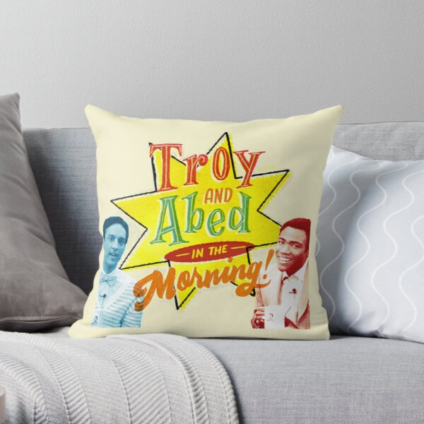 Troy and Abed in the Morning! Throw Pillow