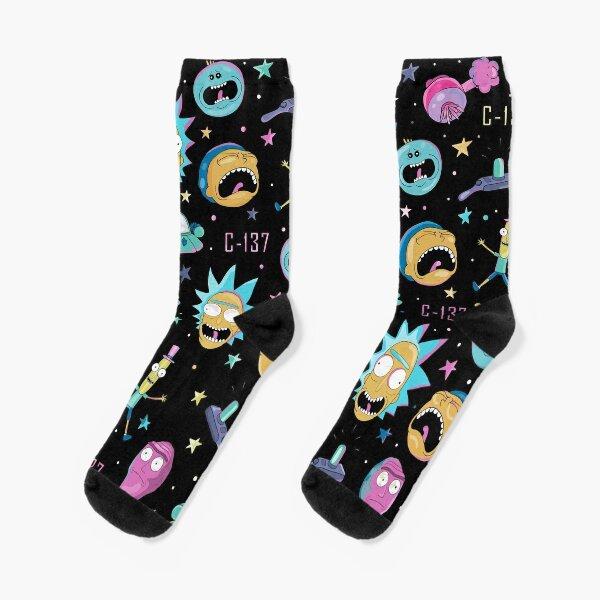 Rick and Morty pattern Socks