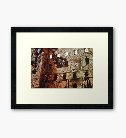 Dinosaurs in the Clocktower Framed Print