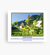 Butterflys and Achievement Leinwanddruck