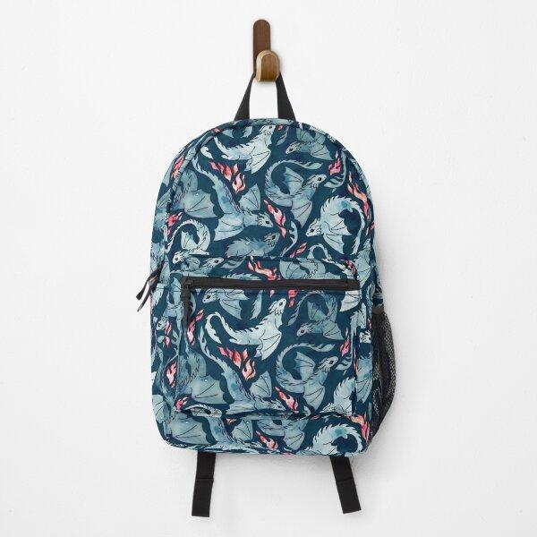 Dragon fire dark blue Backpack