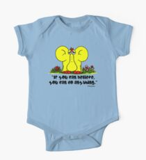 Yellephant Quote One Piece - Short Sleeve