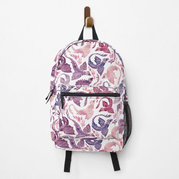 Dragon fire pink & purple Backpack