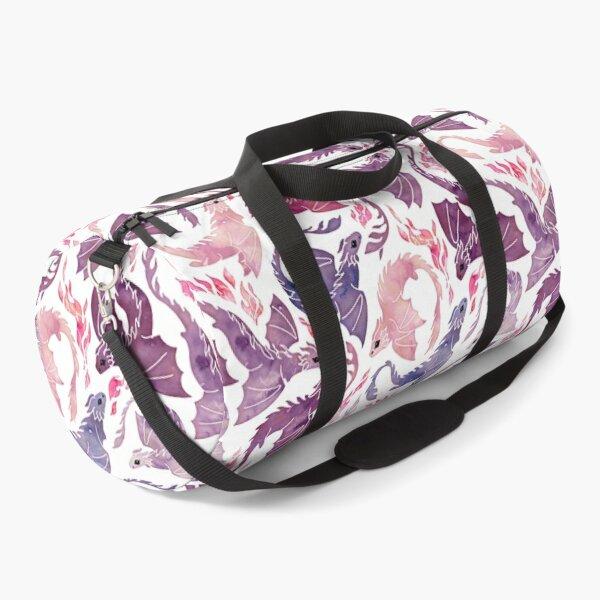 Dragon fire pink & purple Duffle Bag