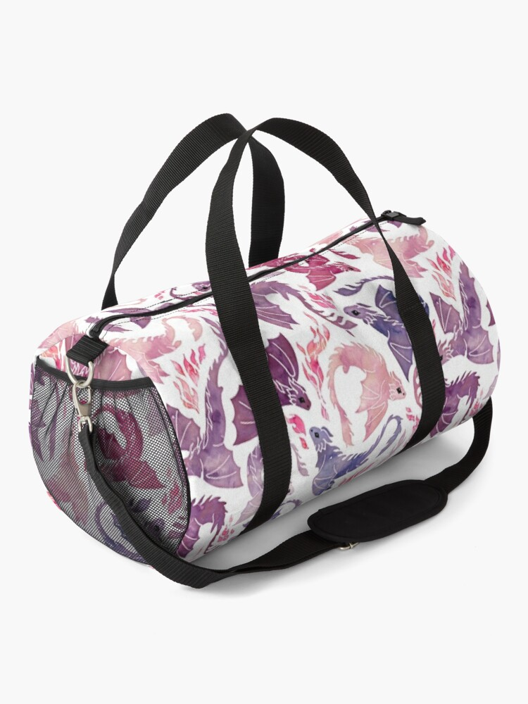 Alternate view of Dragon fire pink & purple Duffle Bag