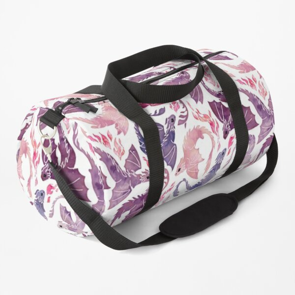 Dragon fire pink & purple Duffle Bag