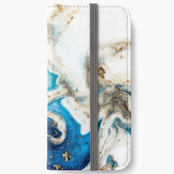 Blue and white marble iPhone Wallet
