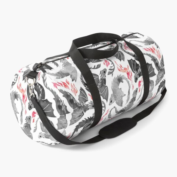 Dragon fire greys & blacks Duffle Bag