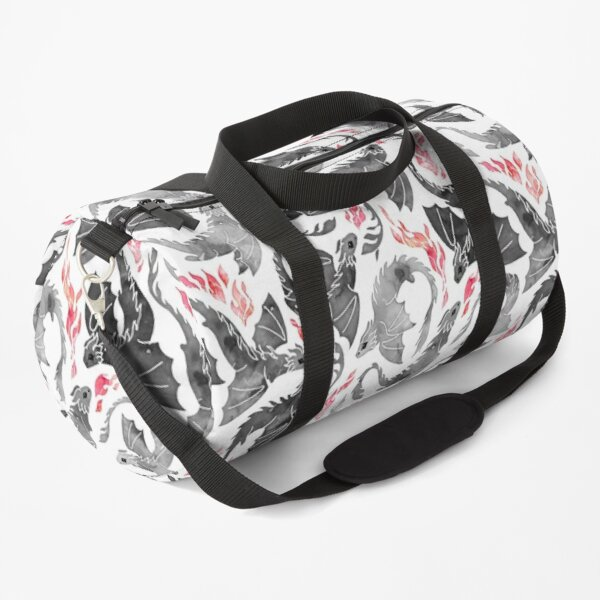Dragon fire greys & blacks Duffle Bag