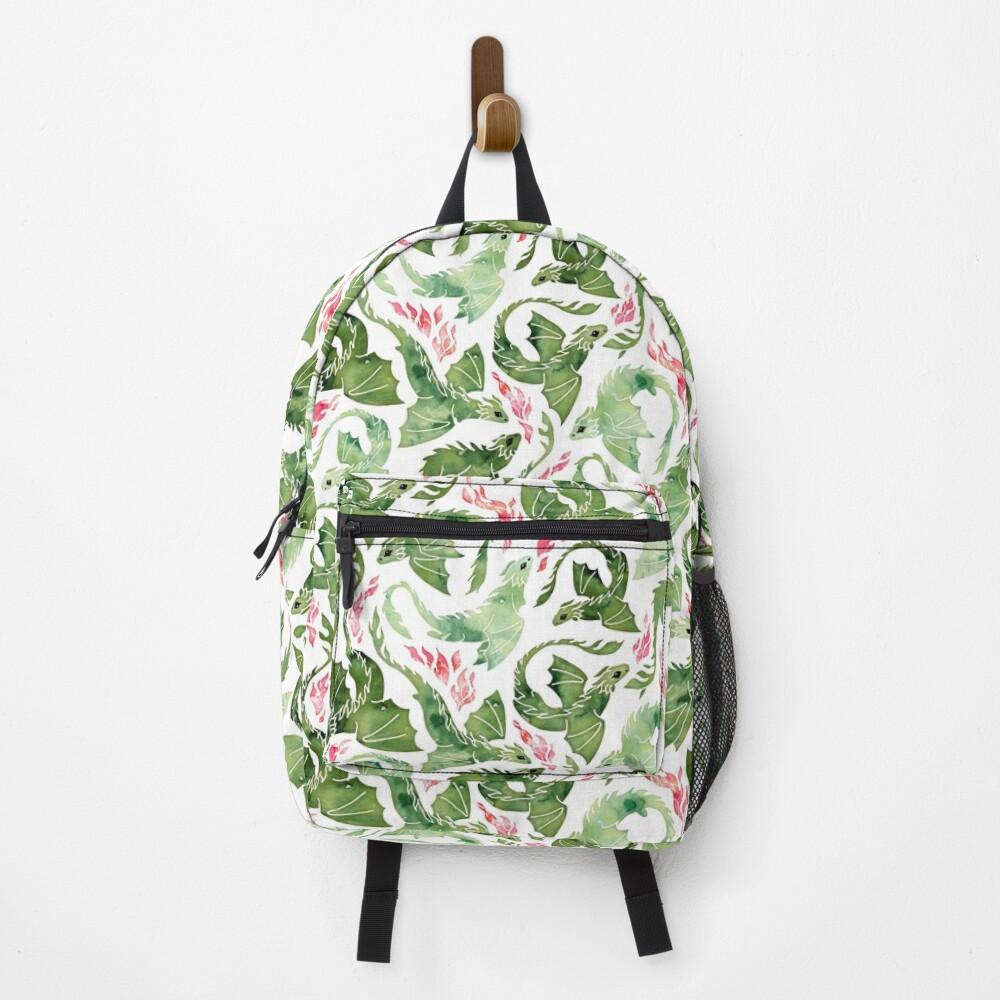 Dragon fire green Backpack