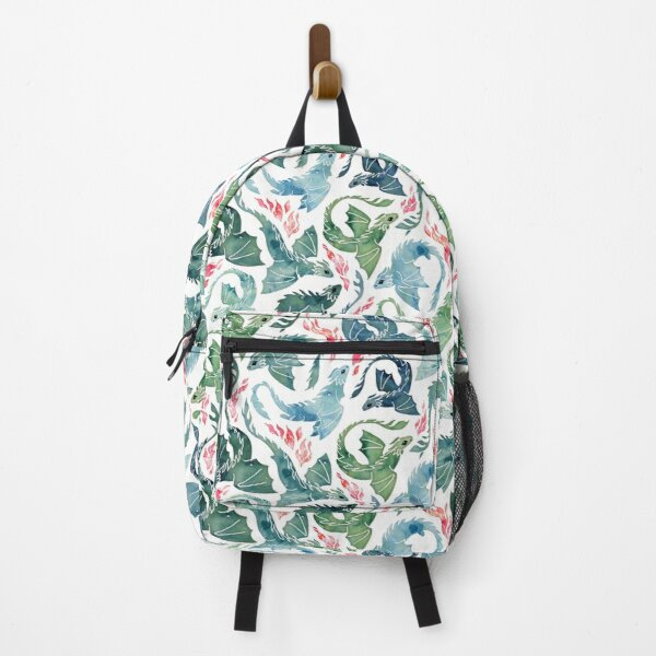 Dragon fire blue & green Backpack