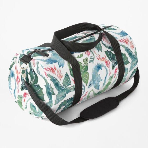 Dragon fire blue & green Duffle Bag